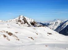 Station de funiculaire sur la montagne dans la région de ski de Gastein Photo libre de droits