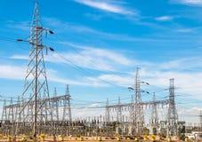 Station de l'électricité Photo stock