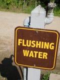 Station de l'eau de Flushable à un terrain de camping Images libres de droits