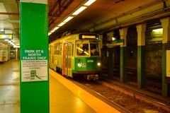 Station de la Ligne Verte T de Boston Image libre de droits