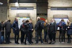 Station de métro Bayswater de Londres Photo stock