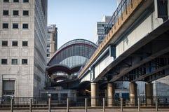 Station de métro de Canary Wharf, Londres, R-U photo libre de droits