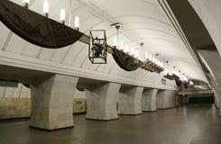 Station de métro Chekhovskaya à Moscou, Russie Il a été ouvert dans 08 11 1983 Photos libres de droits