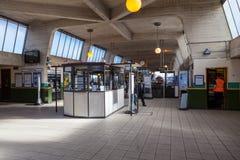 Station de métro de Cockfosters à Londres, R-U Images libres de droits