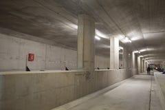 Station de métro concrète en construction Photo libre de droits