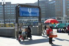 Station de métro d'Alexanderplatz, Berlin, Allemagne Photos stock
