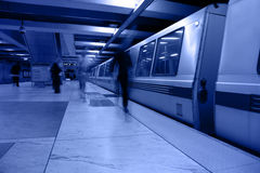 Station de métro d'Embarcadero Photo stock