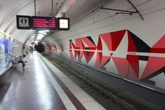 Station de métro d'Essen Image libre de droits
