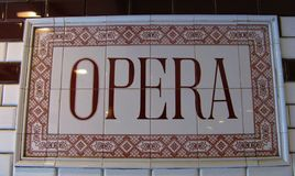 Station de métro d'opéra à Budapest photos stock