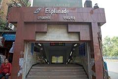 Station de métro dans Kolkata, Inde Image stock