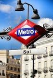 Station de métro dans la place de Puerta del Sol à Madrid image libre de droits