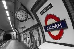 Station de métro de Balham Images libres de droits