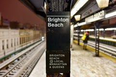 Station de métro de Brighton Beach Image libre de droits