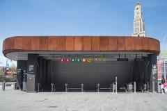 Station de métro de centre de Barclays Image libre de droits