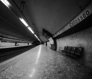 Station de métro de Colosseum à Rome Images libres de droits