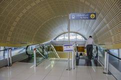 Station de métro de Dubaï images stock