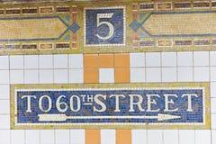 Station de métro de Fifth Avenue, New York images libres de droits