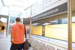 Station de métro de Garching-Forschungszentrum Photos libres de droits