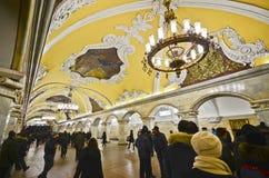 Station de métro de Komsomolskaya, Moscou Image stock