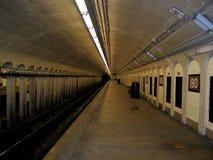 Station de métro de New York City Photographie stock