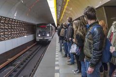 Station de métro de Prague, République Tchèque Image libre de droits
