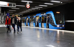 Station de métro de Stockholm Image stock