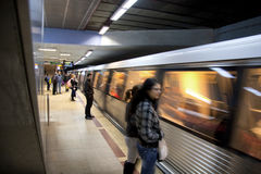 Station de métro de Victoriei Image stock