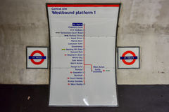Station de métro du ` s de Saint Paul - Londres Photos libres de droits