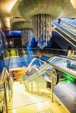Station de métro intérieure à Dubaï EAU Photo libre de droits