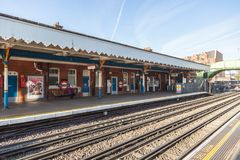 Station de métro de Londres dans Westwood du sud image libre de droits