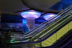 Station de métro neuve à Dubaï Photo libre de droits
