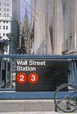 Station de métro par Wall Street, New York City, NY Images libres de droits