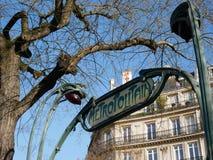 Station de métro de Paris photographie stock libre de droits