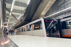 Station de métro de ville de Bilbao Station de Sarriko Photographie stock