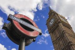 Station de métro de Westminster Images libres de droits