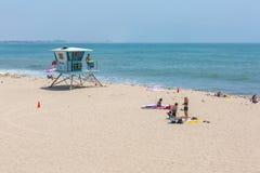 Station de maître nageur à la plage Image stock