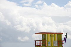 Station de maître nageur, Miami Beach Photos stock