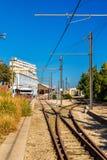 Station de marina de La du tram d'Alicante, Espagne Photographie stock libre de droits
