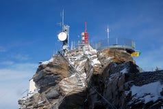 Station de montagne dans Cervinia Photo stock