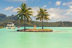 Station de navette de bateau sur Bora Bora, Tahiti, Polynésie française Photographie stock