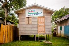 Station de radio de base à la jungle d'Amazone Photographie stock
