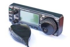 Station de radio et microphone d'émetteur-récepteur Photo stock