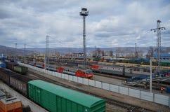 Station de Raiway Photos stock