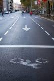 Station de route de vélo Images libres de droits