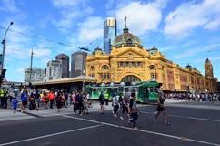 Station de rue de Flinders - Melbourne Photo stock