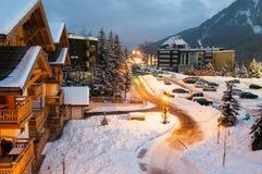 Station de sports d'hiver photos stock