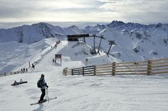 Station de sports d'hiver d'Ischgl Photo stock
