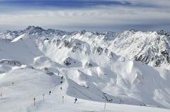 Station de sports d'hiver d'Ischgl Images libres de droits