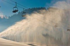 Station de sports d'hiver dans Bukovel, Ukraine Photos libres de droits