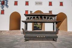 Station de sports d'hiver de Chengde dans Putuo, province de Hebei par le temple de la porte de tour Images libres de droits